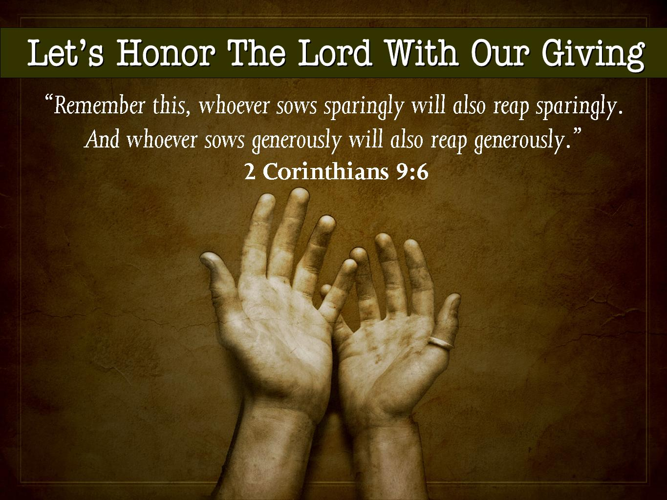give back to God from ...
